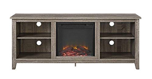 """Walker Edison Fireplace TV Stand , Driftwood , 58"""""""
