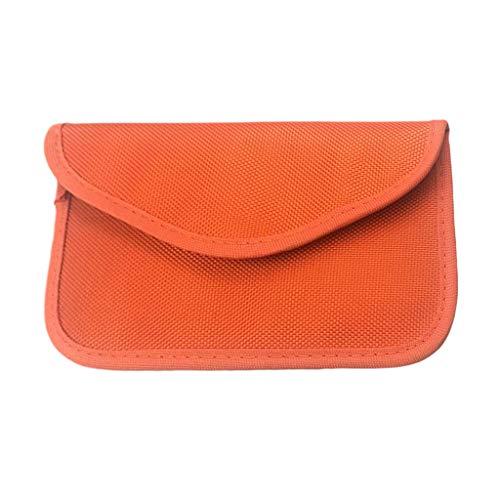 1 Pc Sinal de Bloqueio Saco Protegendo Caso para Telefone Celular, GPS, RFID, Chave Do Carro FOB, EMF - laranja