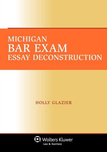 Michigan Bar Exam Essay Deconstruction