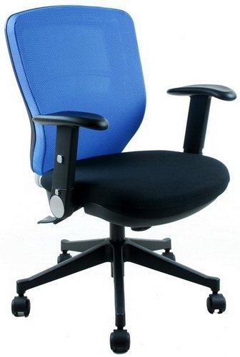 HJH Office/Buerostuhl24 653611 Traffic 10, Sedia Girevole da Ufficio in Rete, Colore: Nero/Blu