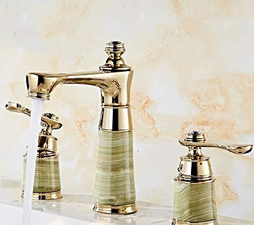 AXWT Yilong Zafiro de Titanio de Tres Piezas Agua fría y Caliente de Lavabo de Colada de Cobre grifos de Ducha de Cuatro Piezas en Agua del Grifo del Lavabo del Fregadero del Cuarto de baño griferías