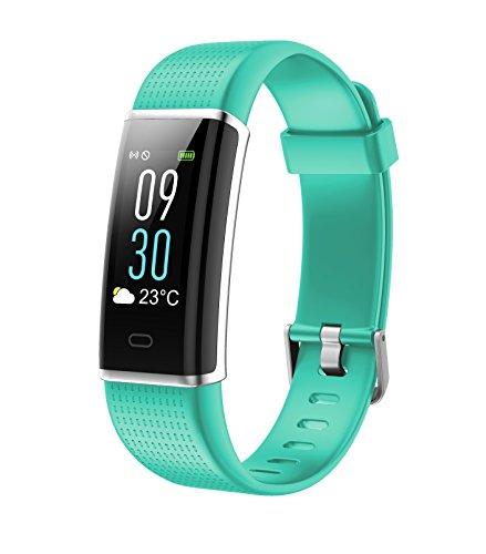 Vigorun Montre Connectée, Bracelet Connecté Bluetooth Etanche IP68, Fitness Tracker d'Activité à Ecran Coloré Cardiofréquencemètre Smartwatch Sport Femme Homme Enfant Android iOS Smartphone