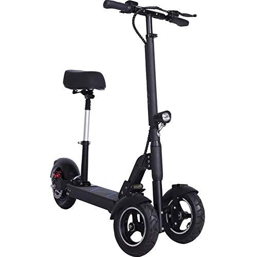 Adulto Plegable Eléctrico Triciclo, Invertido De Tres Ruedas del Vehículo Eléctrico De Múltiples Funciones del Portátil Y Cómodo Mini Scooter Eléctrico, 45-50Km Unisex