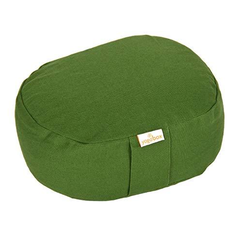 Yogilino® Reise Meditationskissen Mini oval Basic, Olive