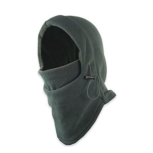 LU2000 - Passamontagnamultiuso in pile pesante antivento, copricapo caldo che protegge viso e collo, per sport invernali, maschera per sport tattici, Grey
