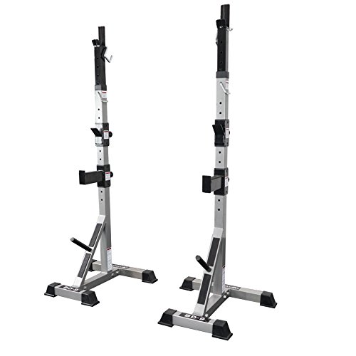 Purchase Valor Fitness BD-9 Independent Power Squat Stands with Adjustable Uprights, J-Hooks, Bar Ca...