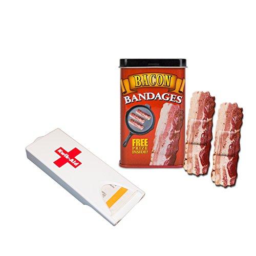 Accoutrements Bandages and Kwik-Aid Bandage Dispenser Bundle (Bacon Bandages)