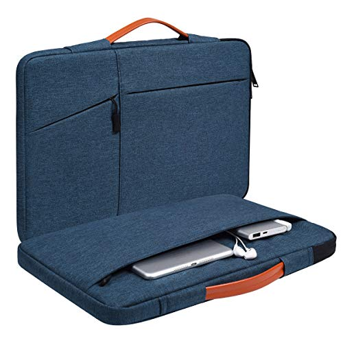 13.3-13.5 Inch Laptop Briefcase Sleeve Case with Handle for Dell Inspiron 13 5000,Surface Laptop 3 13.5, Asus ZenBook 13,MacBook Air 13 A1932/Pro 13, Acer Chromebook R13 Sleeve Bag(Blue)