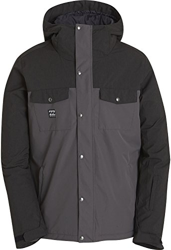 BILLABONG Herren Beam Snowboard Jacke, schwarz grau, S EU