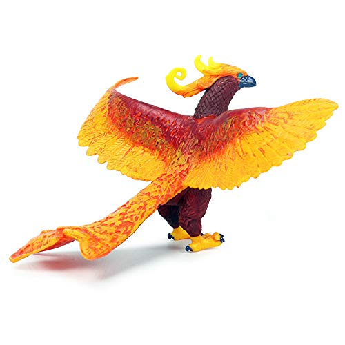 Rich Boxer Phoenix Figurine Realistic Plastic Bird Mythical Animal Figurine for Collection