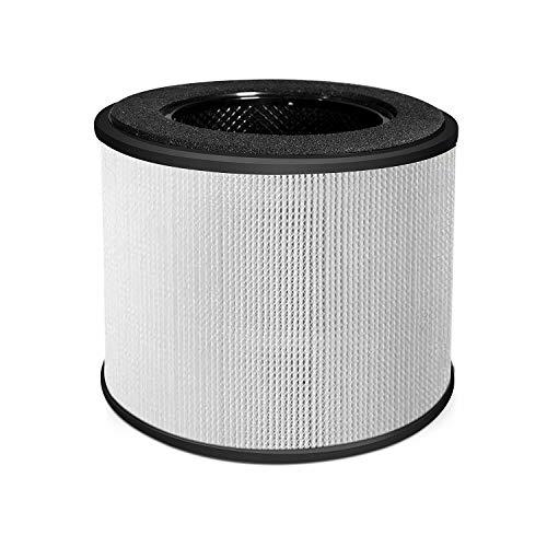 HIMOX Luftreiniger Ersatzfilter Original Replacement Filter H12 HEPA Hocheffizienter Filter und Aktivkohlefilter für Luftreiniger Allergie mit 7 Farben Nachtlicht