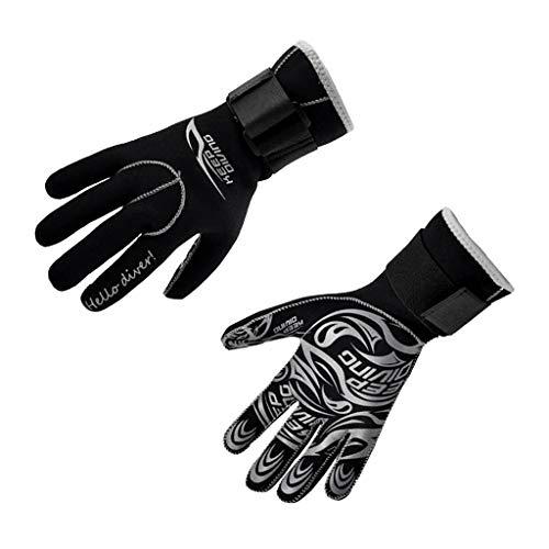 Inzopo 3 mm Neopren-Handschuhe für Erwachsene, für Kajak, Kanu, Tauchen, Schwimmen, Surfen, Segeln, Wassersport, warm, Größe S-XL, L