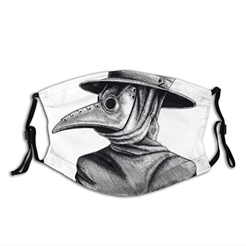 yanfind Vintage Plague Doctor Death Medical Medieval Bird Halloween Hat Old Covid Art Dust Washable Reusable Filter and Reusable Mouth Warm Windproof Cotton Face