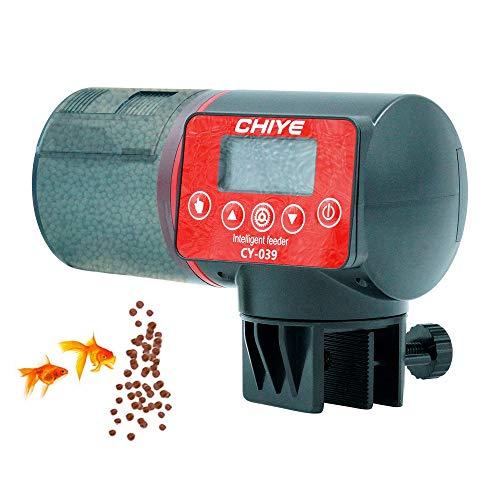 DZL- Alimentador Automático Peces Comedero Automático Peces Temporizador Acuario para Tortuga Pescado Dispensador 200ml (Pilas)