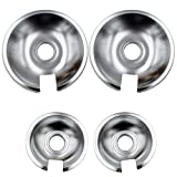 Supplying Demand 715878 715877 Range Cooktop Chrome Drip Pan Set