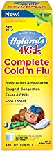 Cold and Flu Medicine for Kids Ages 2+ by Hyland's, Complete Cold n' Flu, Aches, Cough & Congestion, Sore Throat, Fever, 4 Ounces