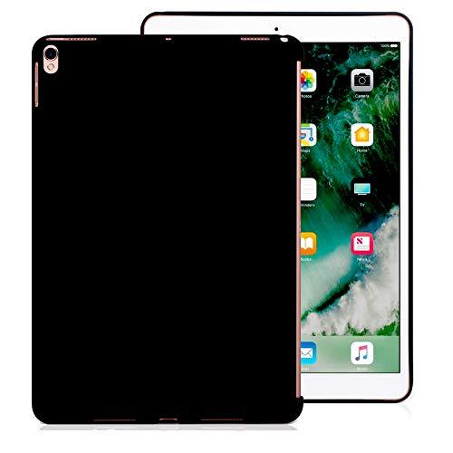 KHOMO Schutzhülle für iPad Air 3 10.5 (2019) / iPad Pro 10.5 (2017), ultradünn & leicht, kompatibel mit Smart Cover – Schwarz