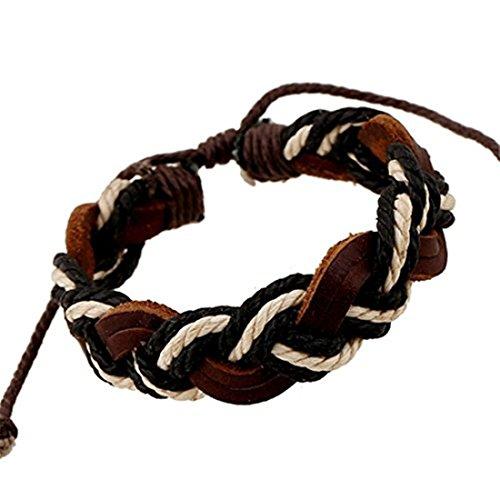 Leather Bracelet,Weaved Leather Bracelet, Unisex