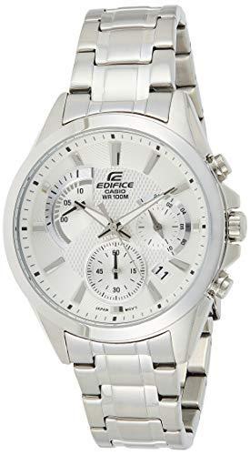 Casio Edifice EFV-580D-7AVUDF Reloj analógico de cuarzo plateado para hombre de acero inoxidable