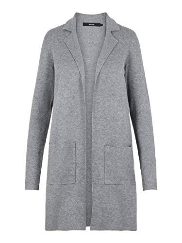VERO MODA Female Strickjacke Strick SMedium Grey Melange