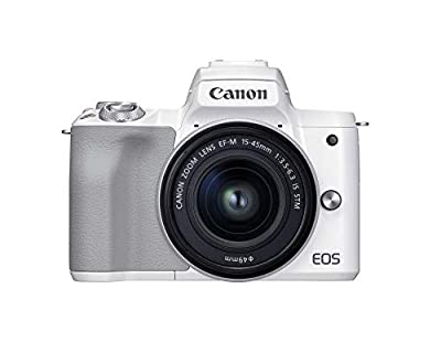 Canon EOS M50 Mark II + EF-M 15-45mm is STM Kit White from Canon USA
