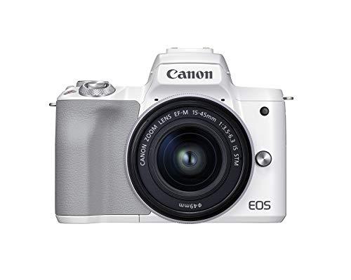 Canon EOS M50 Mark II + EF-M 15-45mm is STM Kit White