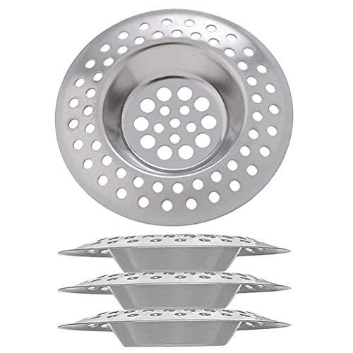 NANUNU Drenaje de Piso - 4 Uds colador de Fregadero de Acero Inoxidable Drenaje de Piso colador de Fregadero de Cocina Filtro de Fregadero de Drenaje de residuos Utensilios de baño de Cocina