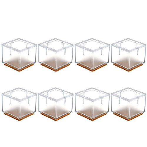 Qplcdg almohadillas de goma para patas de mesa, 8 Piezas protectores de piso para pata de Silla para muebles,transparentes-Tamaño opcional (1#)