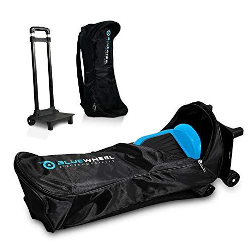 Bluewheel CASE6.5 / CASE10 Self Balance Scooter Rucksack Tragetasche Trolley mit 2 Rollen, 2 Rückenpolstern, versenkbarem Griff & Netztasche – Wasserabweisend & strapazierfähig – für 10 Zoll