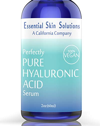 Hyaluronic Acid Serum for Face – 100% Pure Hydration | Vegan & Gluten Free | Hydrating Daily Face Moisturizer for Firm Glowing Skin - Best Anti-Aging Facial Treatment | Plumps and Smooths – 2 Oz