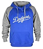 Mens Dodgers Embroidery Hooded Sweatshirt Casual Hoodie - Blue XXL
