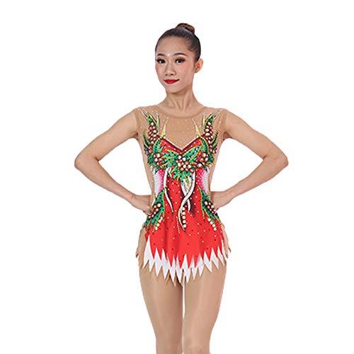 Traje de skate ZXS Arts Test Match Kleidung Aufführung Die Messe Aerobic Erwachsene Kinder Danceathletics Leotard Anzug Eiskunstlauf-Wettbewerb,L