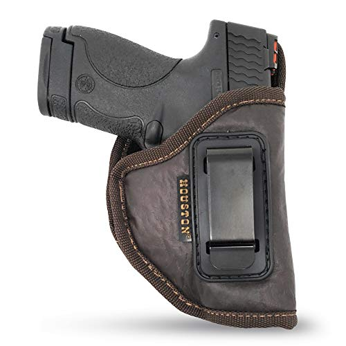 Brown IWB Gun Holster by Houston - ECO Leather Concealed...
