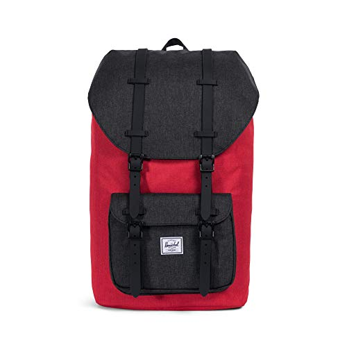 Herschel supply Company - Zaino casual Little America, Barbados Cherry Crosshatch/Black Crosshatch (Rosso) - 10014-02086-OS