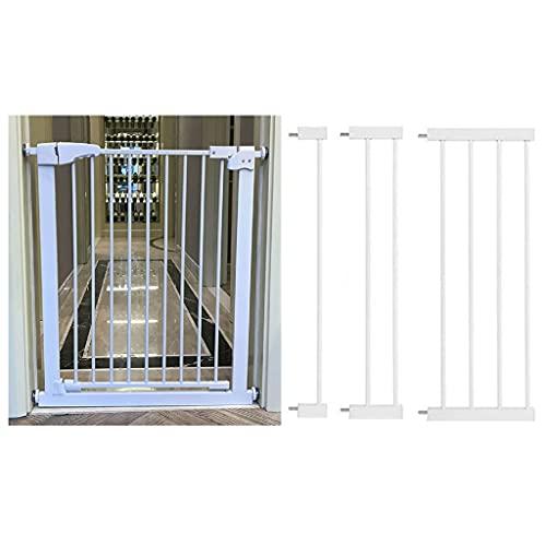 Barrera Bebe, Puertas de Seguridad para Mascotas, Niños Barandilla Escalera, Cierre Rápido, para Bebés, Niños y Perros (Blanco)
