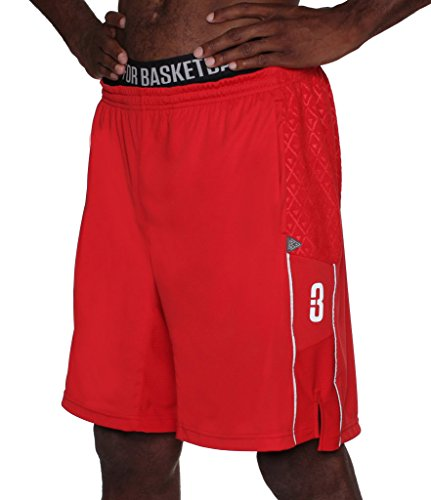 POINT 3 Basketball DRYV Baller 3.0 Dry Hand Zone Basketball-Shorts, 3-fach rot, XL