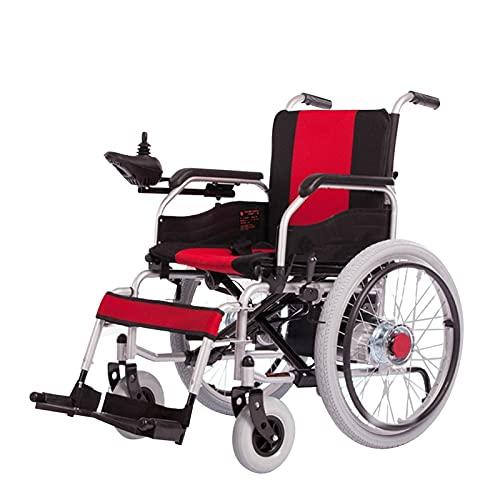 LFLLFLLFL Elektrorollstuhl, Faltbarer Rollstuhl Batterie Leistungsstarker Motorischer Älterer Älterer Rollstuhl Tragbarer Elektrischer Rollstuhl Für Behinderte Einhändig