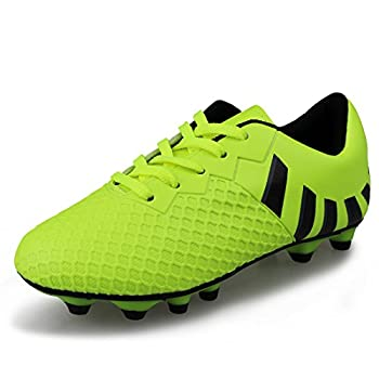 Hawkwell Comfortable Soccer Shoes Toddler/Little Kid/Big Kid ,Green PU,13 M US