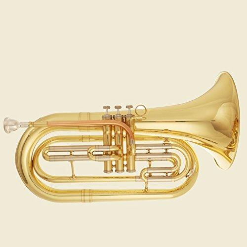 Tuyama® TMB-177 Marching Bariton/Basstrompete in B (Messing, enge Bohrung)