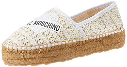 Love Moschino JA1041, Espadrillas Donna, Bianco (Bianco 100), 40 EU