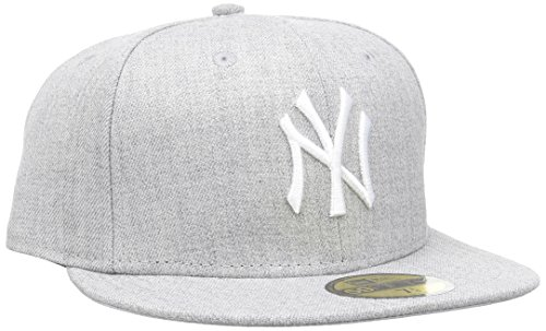 New Era MLB Basic NEYYAN Heather White casquette de Baseball Homme, Gris (Grey), Large (Taille fabricant: 7 3/8)