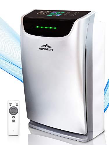 ALPENLUFT Luftwäscher mit UV-Entkeimung, Luftreiniger und Luftbefeuchter 2 in 1, entfernt 99,9% der Viren und Aerosole, Ionisator, HEPA-Aktivkohle Filter, gegen Allergie, Staub, Raucherzimmer bis 79m