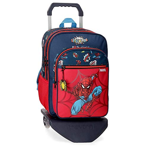 Marvel Spiderman Pop Mochila Doble Compartimento con Carro Multicolor 30x40x13 cms Poliéster 15.6L