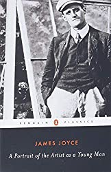 Book cover - young man in black and white, James Joyce - A Portrait of the Artist as a Young Man.