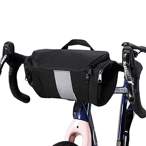 Lixada Fahrrad Lenkertasche Rahmentaschen Handyhalterung Touchscreen 6IN Handytasche mit Wasserdichtem Regenschutz (Type2)