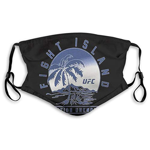 Ldrsdsb Dust mask with Filter-UFC Fight Island with Filter Can be Used Repeatedly Comfortable Medium Black