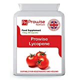 PROWISE LYCOPENE 15mg 120 capsules, UK Made GMP Guaranteed Quality, Suitable for vegetarians and vegans by PROWISE HEALTHCARE