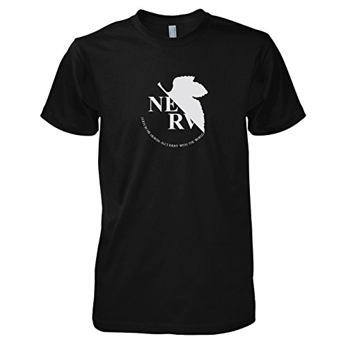 Neon Genesis Evangelion - Nerv Logo - Herren T-Shirt, Größe M, schwarz