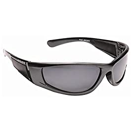 EYE LEVEL Mens Cool Dark Wrap Around Designer Sports Biker Ski Sunglasses Shades Black + Case UV100