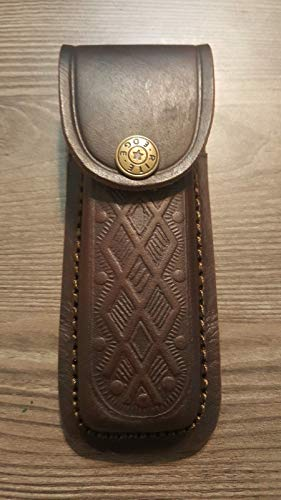 Brown Textured Leather Knife Sheath - Holds a Buck 110. 5' Case....
